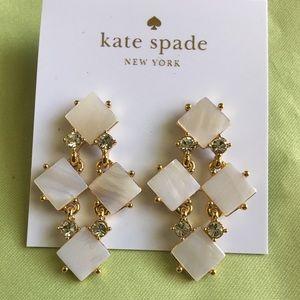 KATE SPADE Pearl Cove Chandelier Cream Earrings